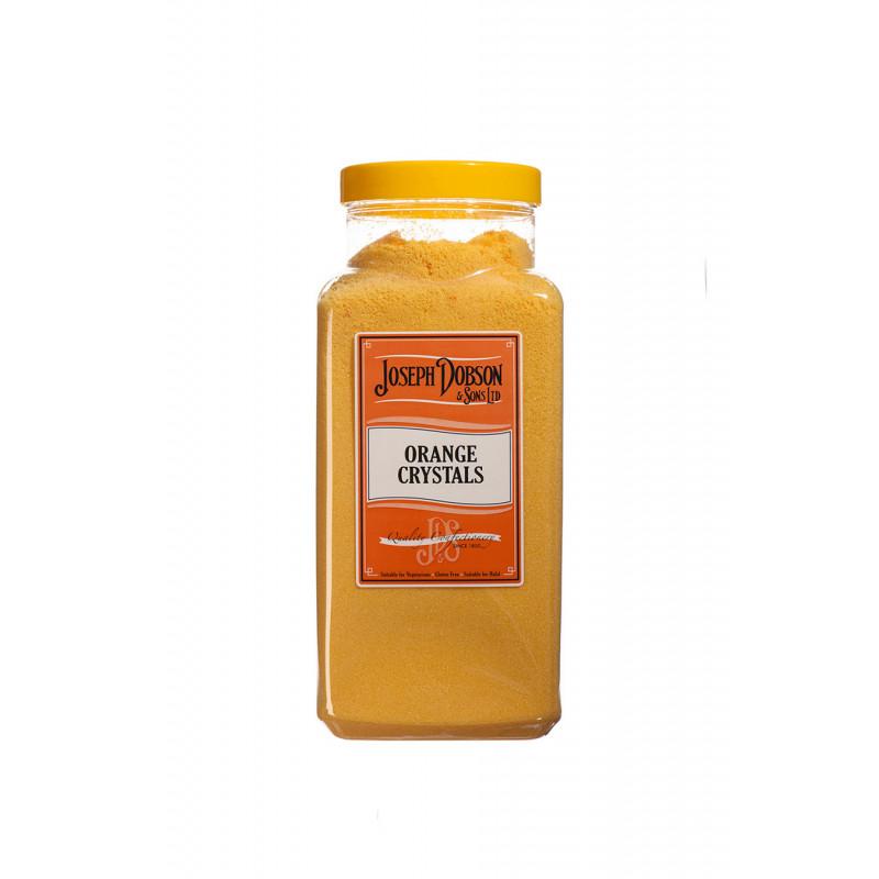 Orange Crystals 2.72kg Large Jar