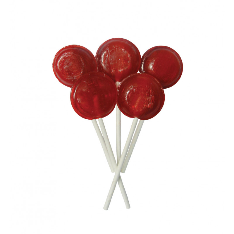 Cherry 5 Lollies Per Bag