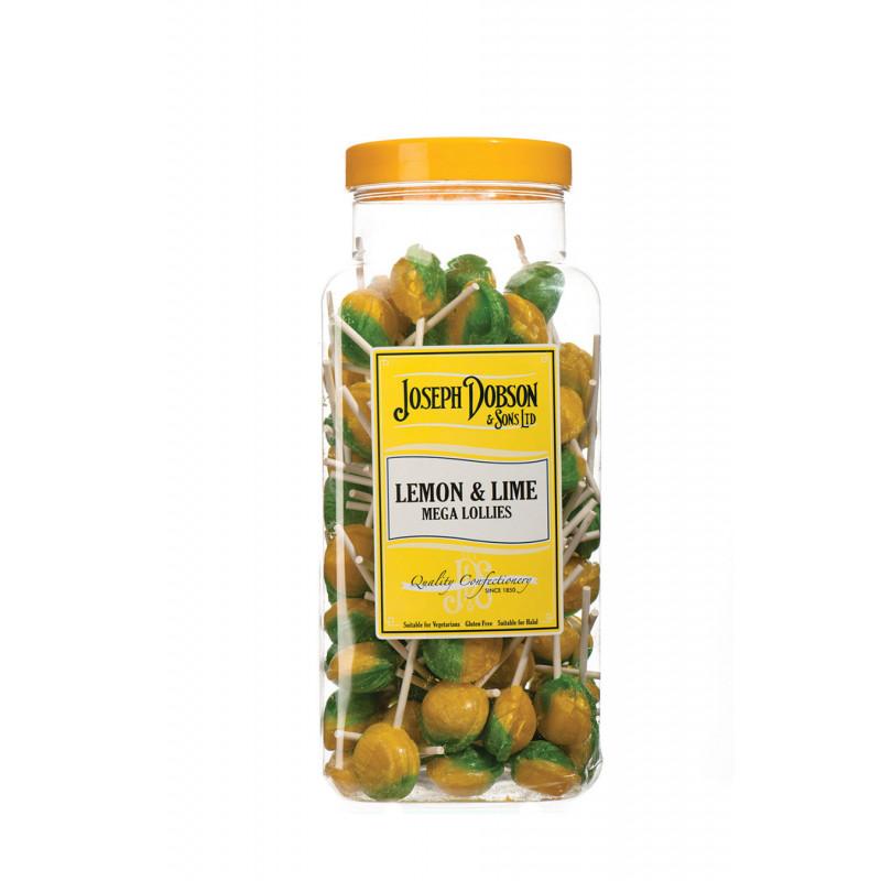 Lemon & Lime 90 Lollies Per Jar