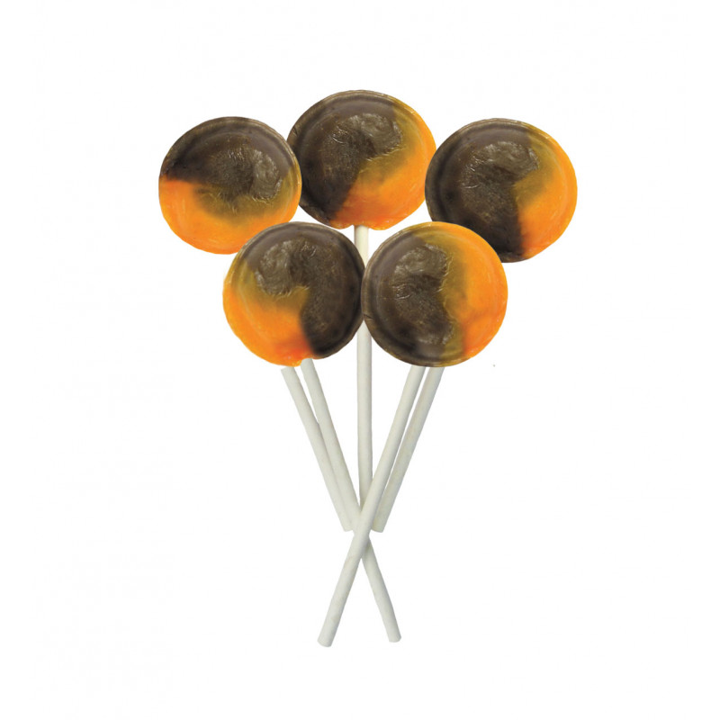 Chocolate Orange 5 Lollies Per Bag