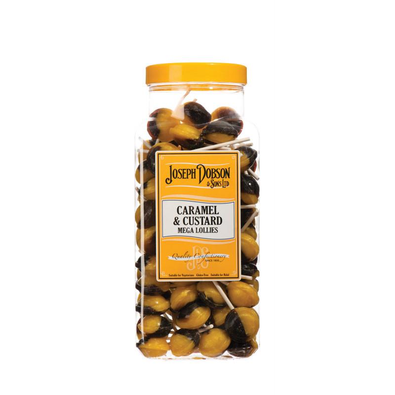 Caramel & Custard 90 Lollies Per Jar