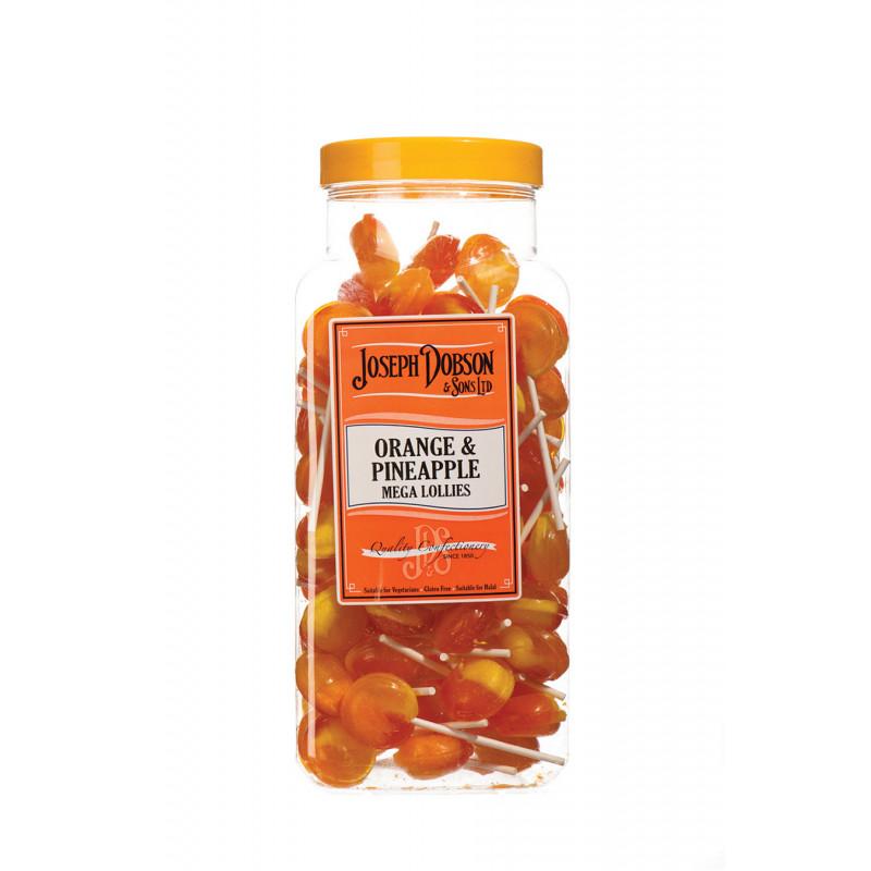 Orange & Pineapple 90 Lollies Per Jar