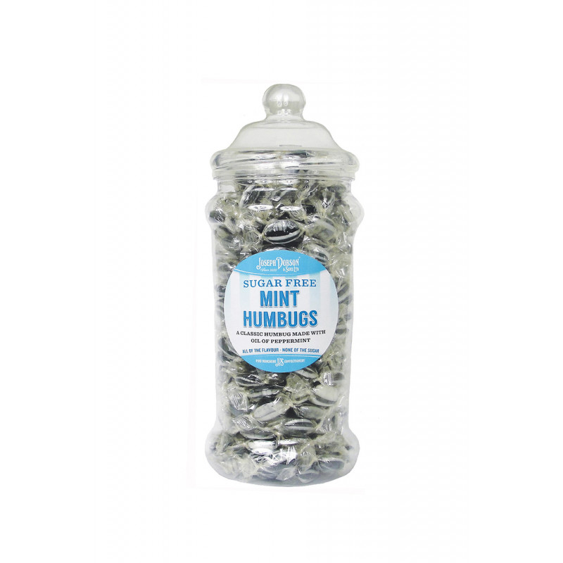 Mint Humbugs Sugar Free 1.2kg Victorian Jar