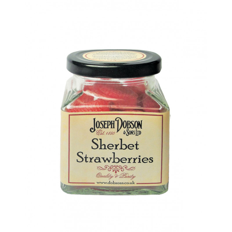 Sherbet Strawberries 170g Glass Jar