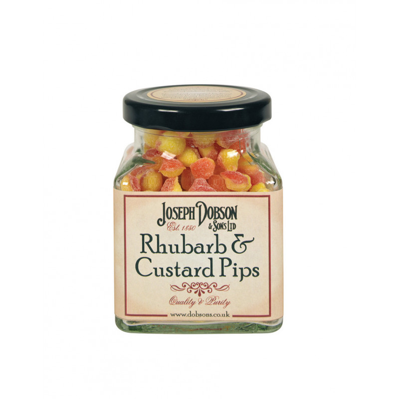 Rhubarb & Custard Pips 180g Glass Jar