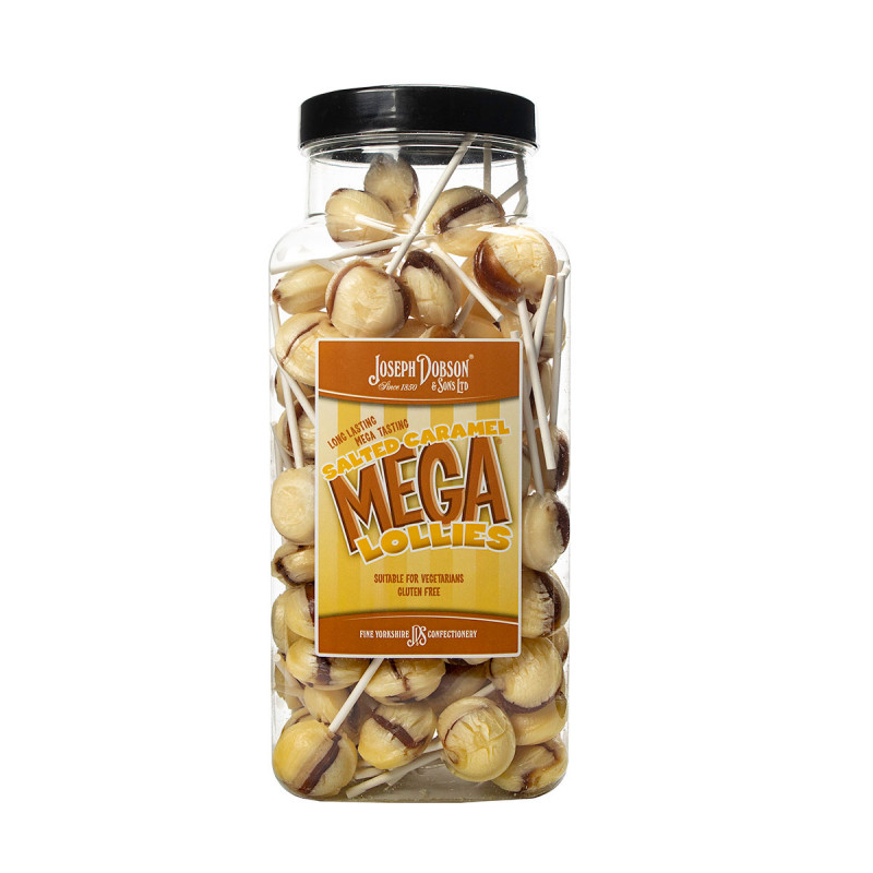 Salted Caramel 90 Lollies Per Jar