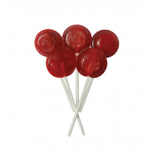 Cherry 5 Lollies Per Bag