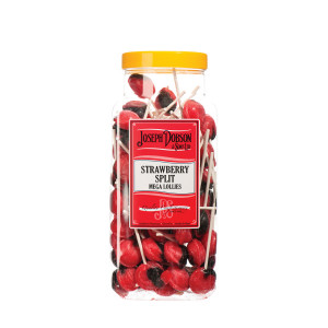 Strawberry Split 90 Lollies Per Jar