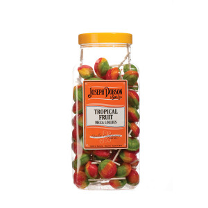 Tropical Fruit 90 Lollies Per Jar
