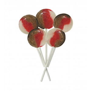 Cherry Cola 5 Lollies Per Bag