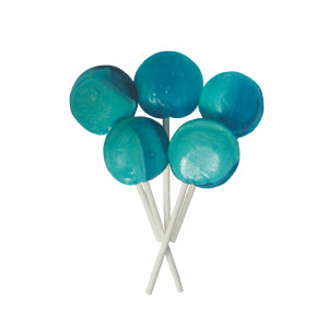 Blue Raspberry 5 Lollies Per Bag