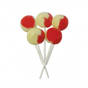 Strawberry & Cream 5 Lollies Per Bag