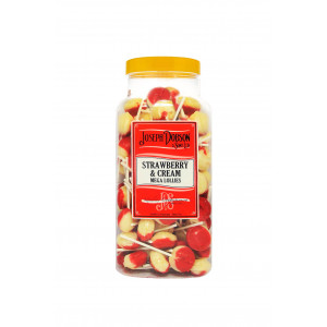 Strawberry & Cream 90 Lollies Per Jar