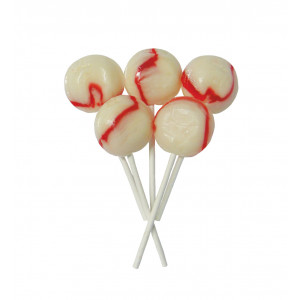 Raspberry Ripple 5 Lollies Per Bag