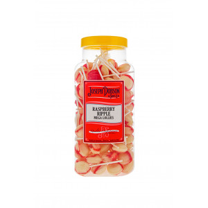 Raspberry Ripple 90 Lollies Per Jar