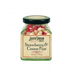 Strawberry & Cream Pips 180g Glass Jar