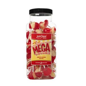 Strawberry & Cream 90 Lollies Per Jar