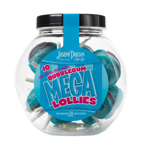 Bubblegum 10 Lollies Per Jar