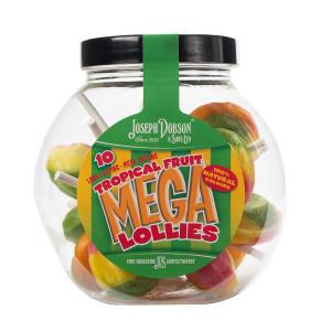 Tropical Fruit 10 Lollies Per Jar